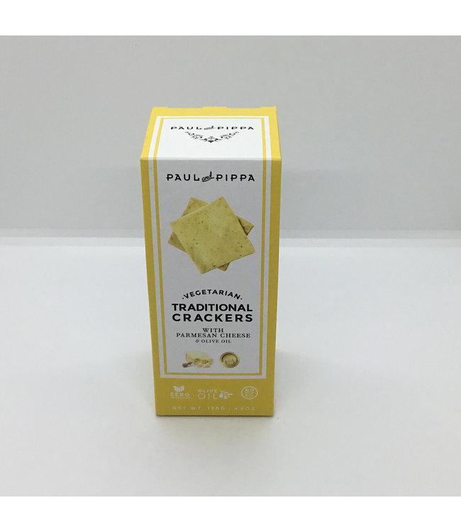 Paul & Pippa Parmesan Crackers Vegetarian 4.6 oz