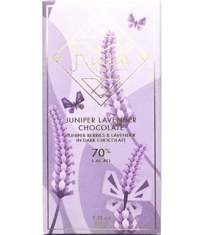 Ritual Juniper Lavender  70% Chocolate Bar 2.12oz