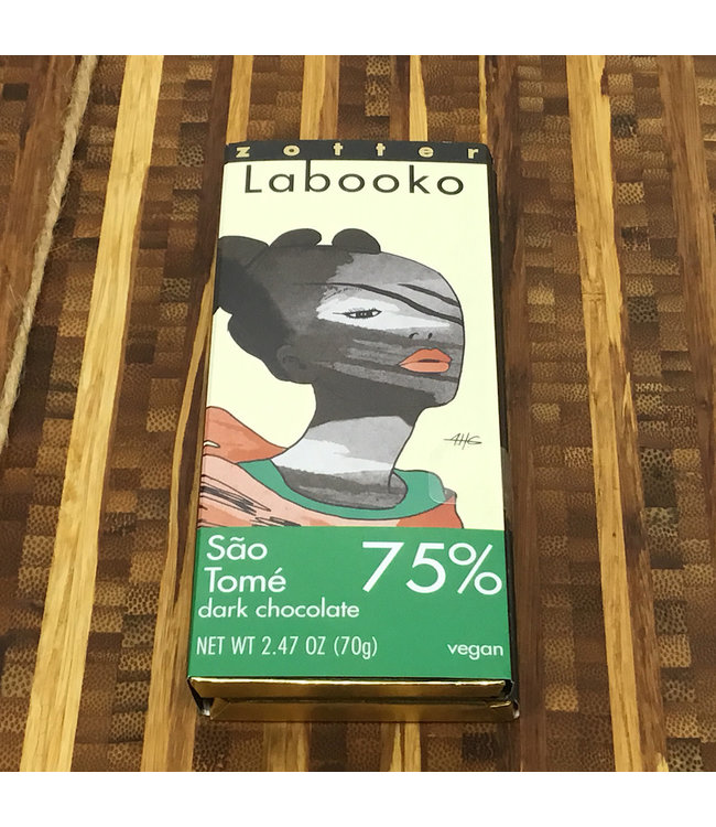 Zotter Labooko São Tomé 75% Dark Chocolate Bars 2.47oz