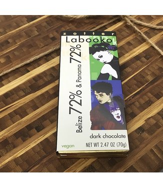 Zotter Labooko Belize & Panama 72% Dark Chocolate Bars 2.47oz Zotter Labooko Belize & Panama 72% Dark Chocolate Bars 2.47oz