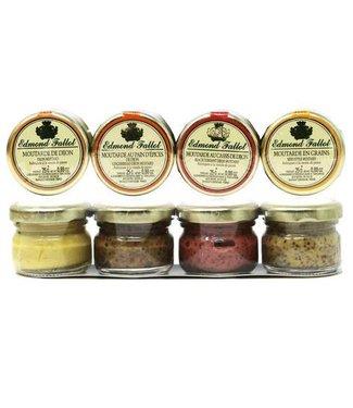 Edmond Fallot Mustard 4-Pack 1oz ea  Beaune - France Edmond Fallot Mustard 4-Pack 1oz ea  Beaune - France