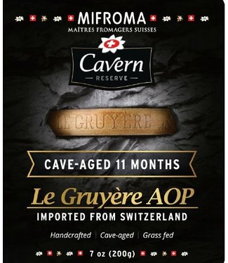 Mifroma Le Gruyere AOP Cave Aged 11 Months 7oz Switzerland Mifroma Le Gruyere AOP Cave Aged 11 Months 7oz Switzerland