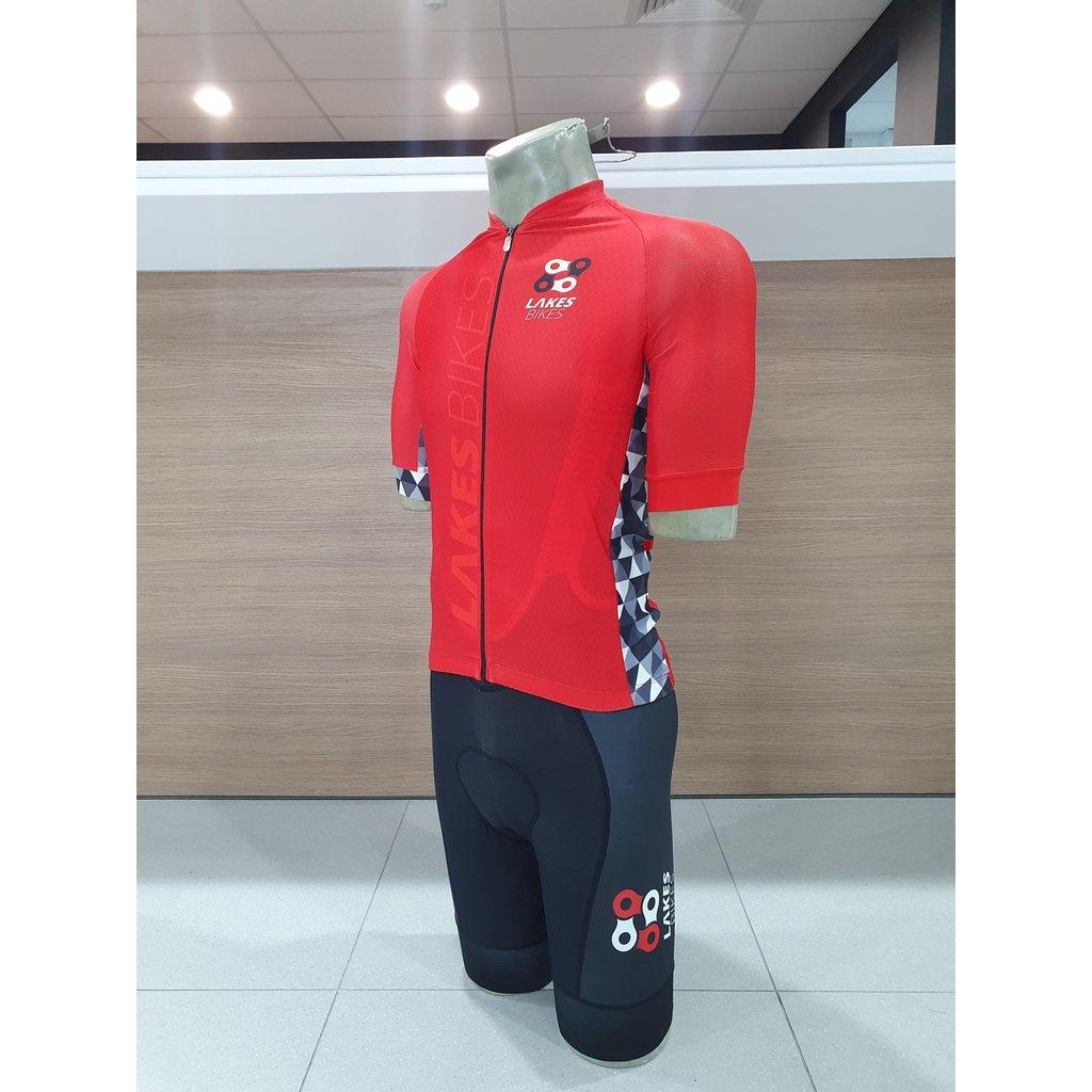 Lakes Bikes Lakes Bikes Jersey Red  Mens