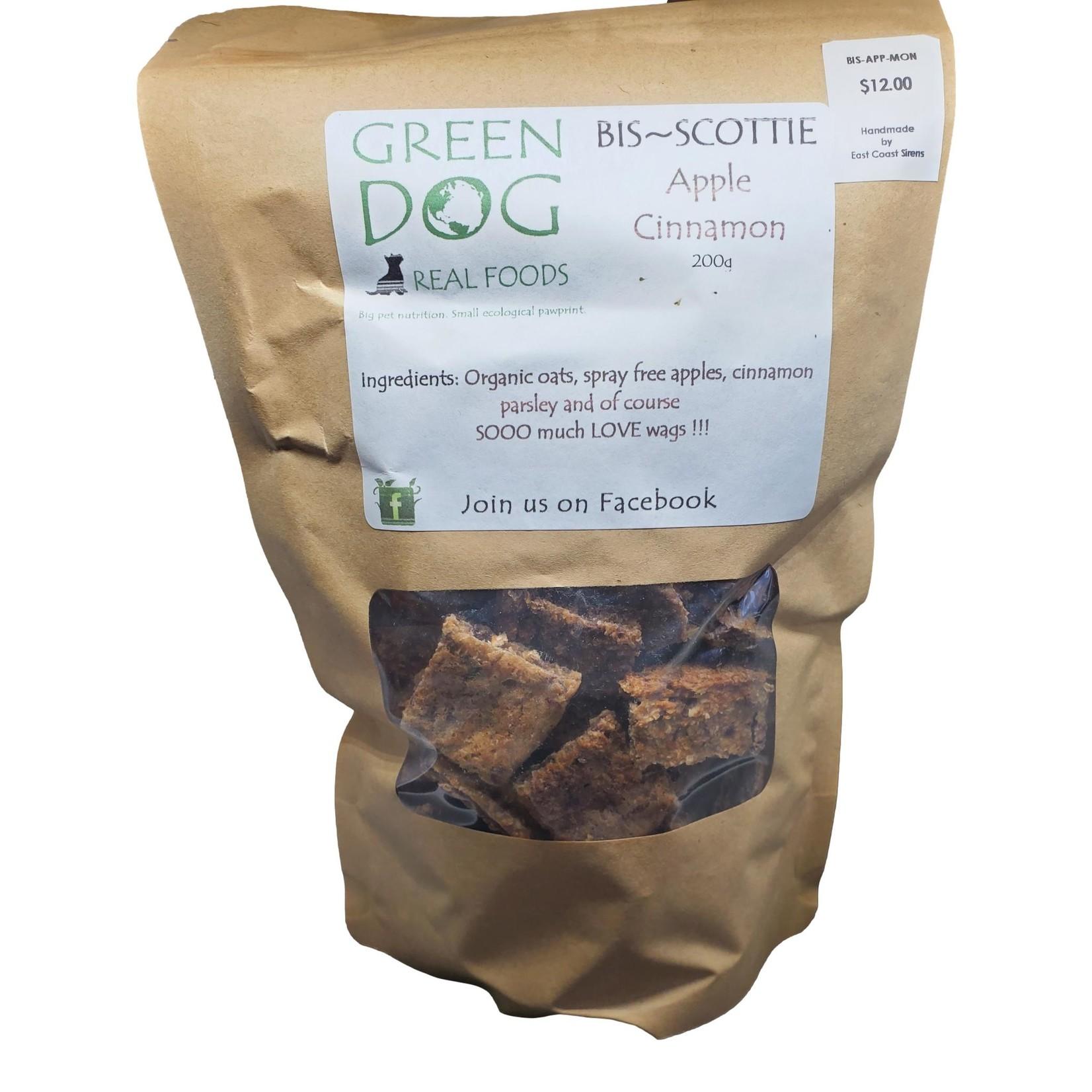 Green Dog Real Foods Bis~Scotties Treats-Apple Cinnamon