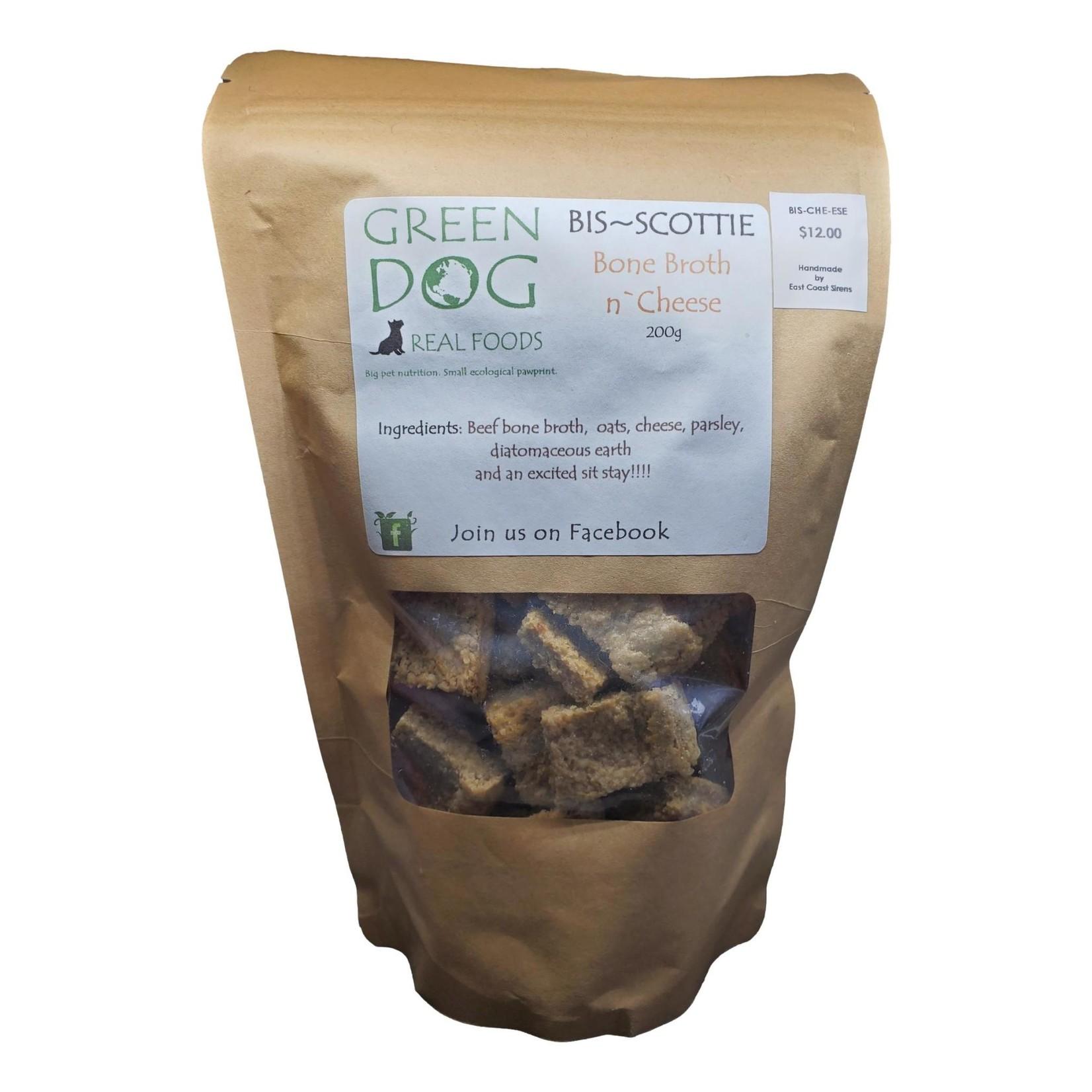 Green Dog Real Foods Bis~Scotties Treats- Bone, Broth, Cheese
