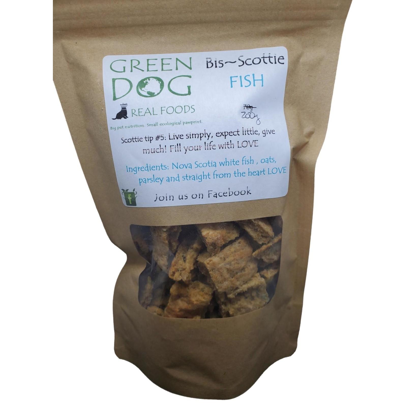 Green Dog Real Food Bis~Scottie Fish Treats