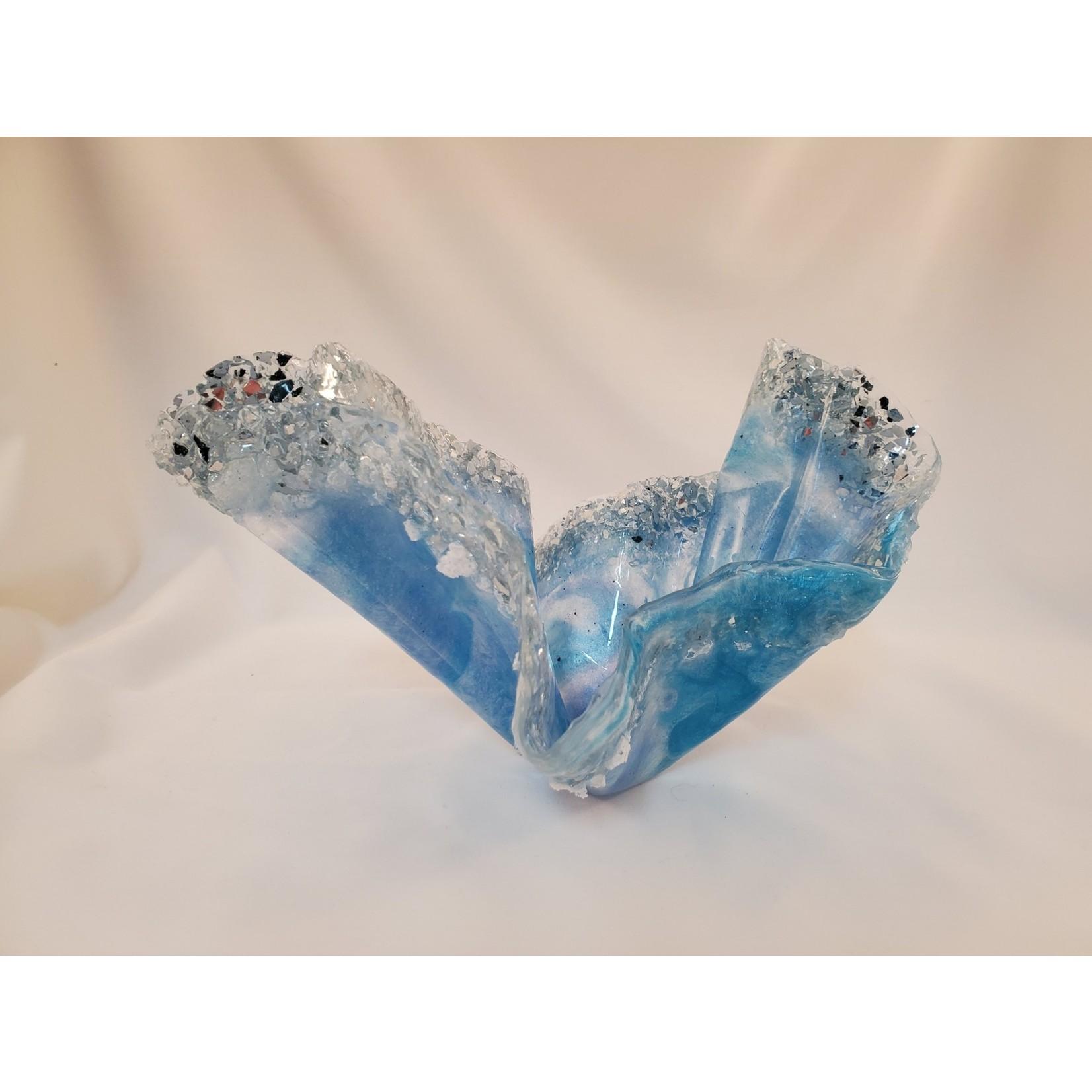 """East Coast Sirens """"Blue Ice"""" Resin Vase/Bowl"""