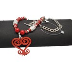 Jewellery by Deborah Young-Groves Red Africa Beaded Necklace