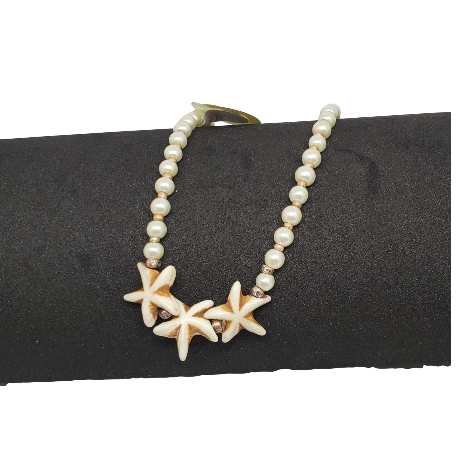 Jewellery by Deborah Young-Groves Pearls and Starfish Ankle Bracelet