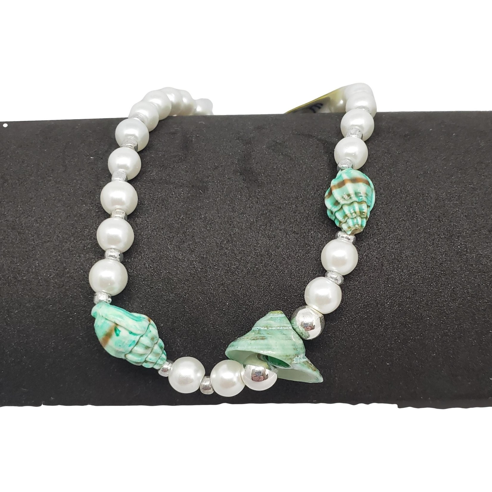Jewellery by Deborah Young-Groves Pearls and Turquoise Shells Ankle Bracelet