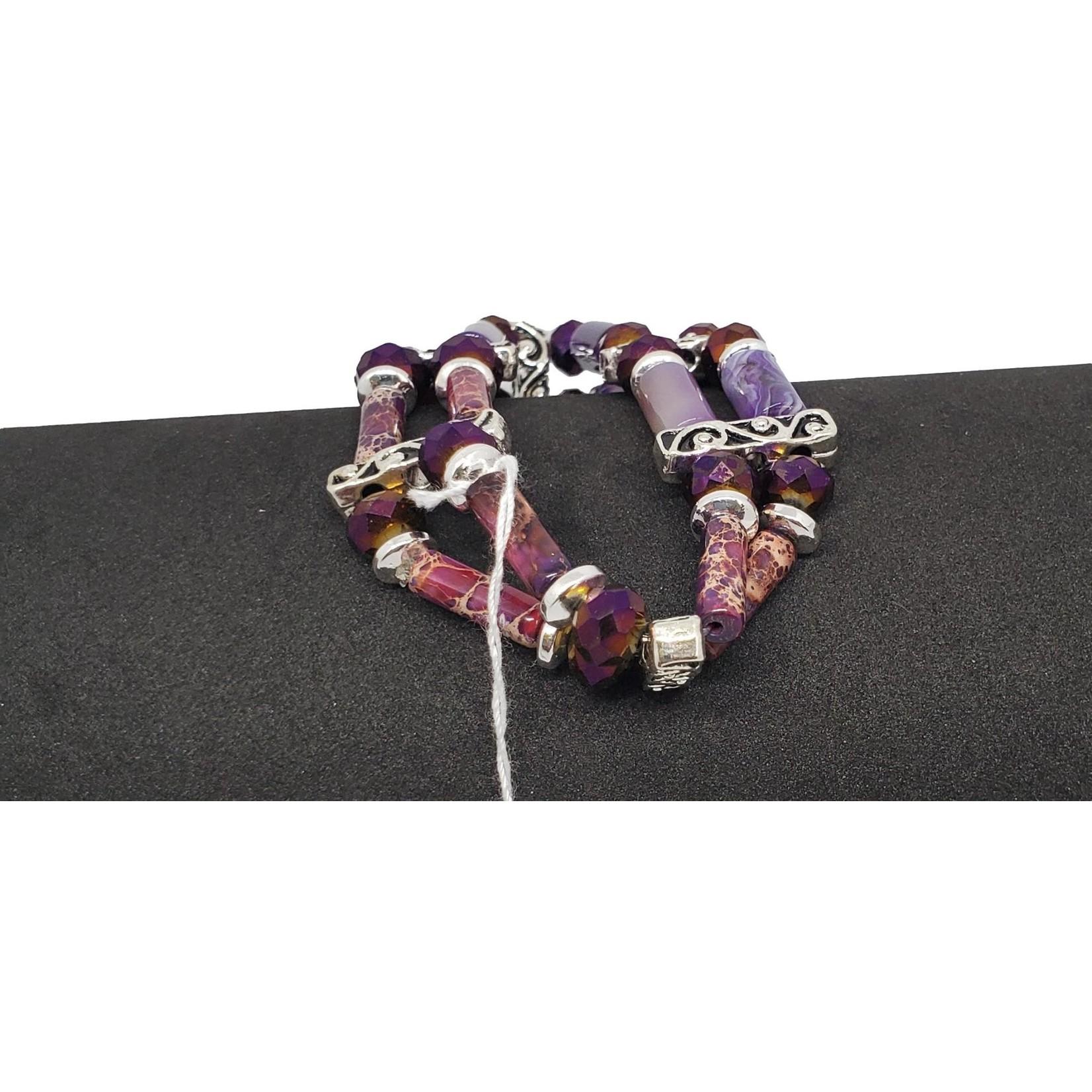Jewellery by Deborah Young-Groves Purple Agate Beaded Bracelet