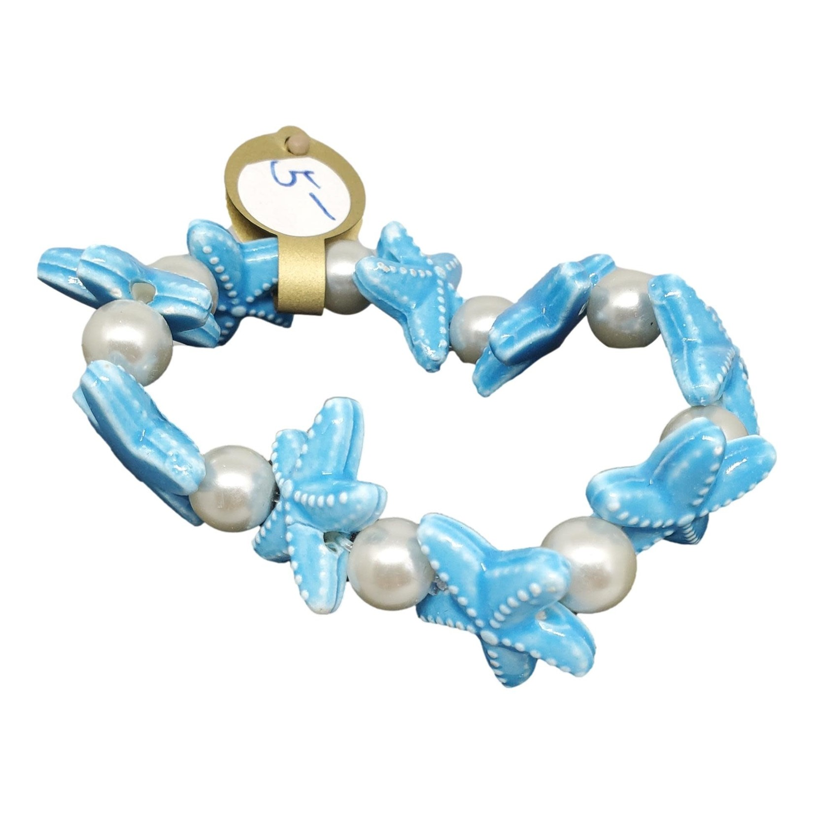 Jewellery by Deborah Young-Groves Pearls & Blue Starfish Bracelet