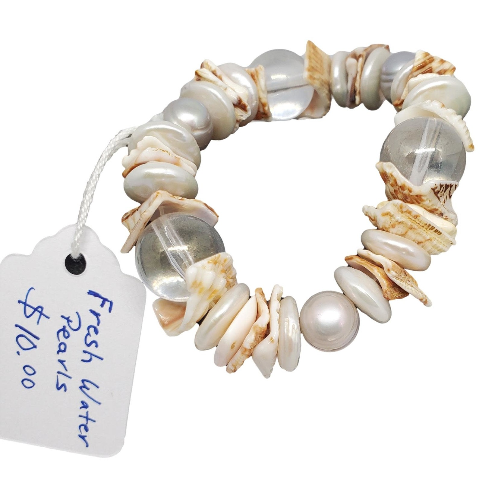 Jewellery by Deborah Young-Groves Fresh Water Pearls & Shells Bracelet