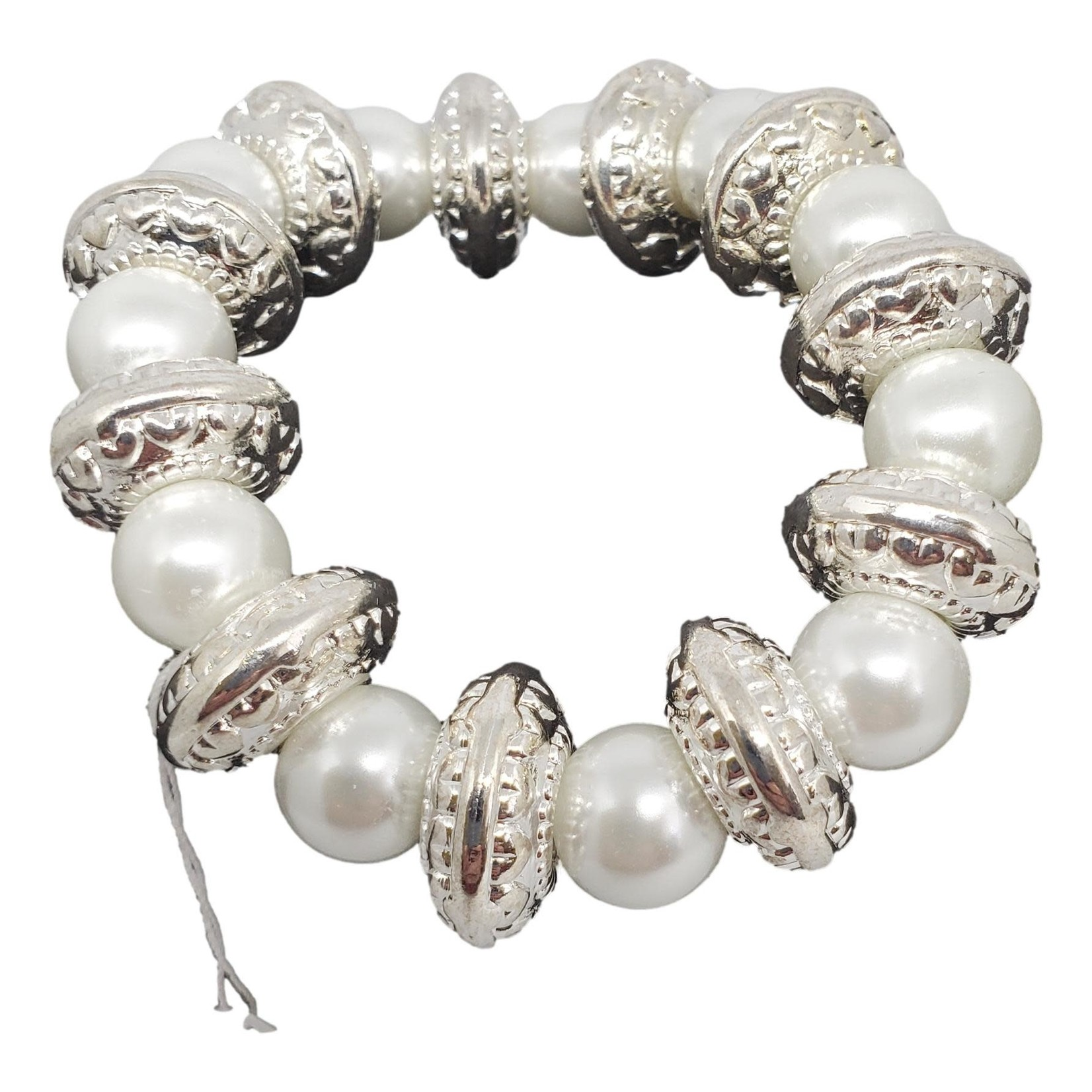 Jewellery by Deborah Young-Groves Large Pearls with Tibetan Silver Beads Bracelet