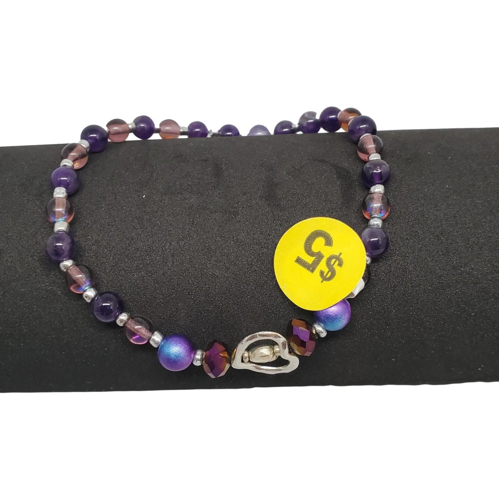 Jewellery by Deborah Young-Groves Purple Beaded Ankle Bracelet