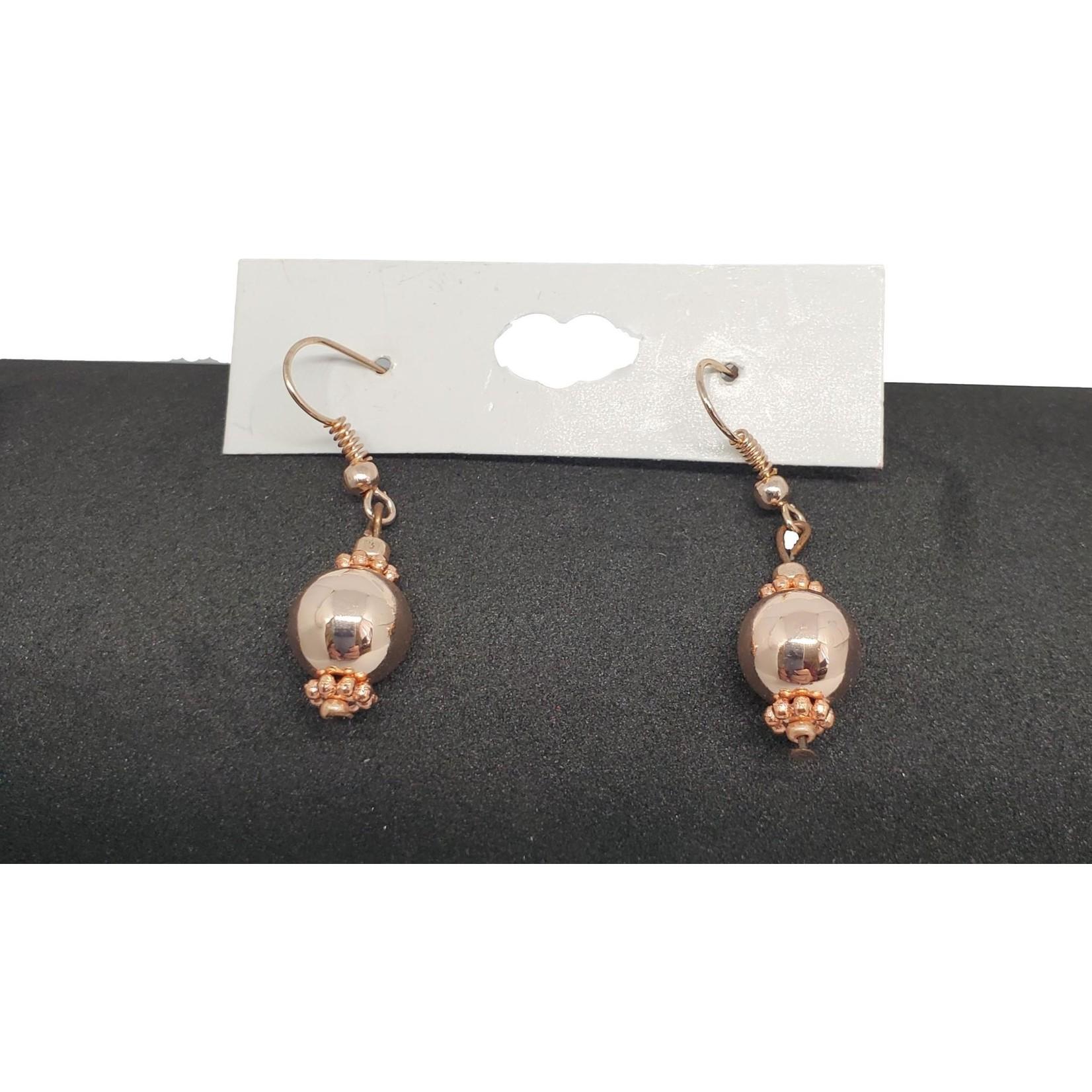 Jewellery by Deborah Young-Groves Rose Gold Drop Bead Earrings