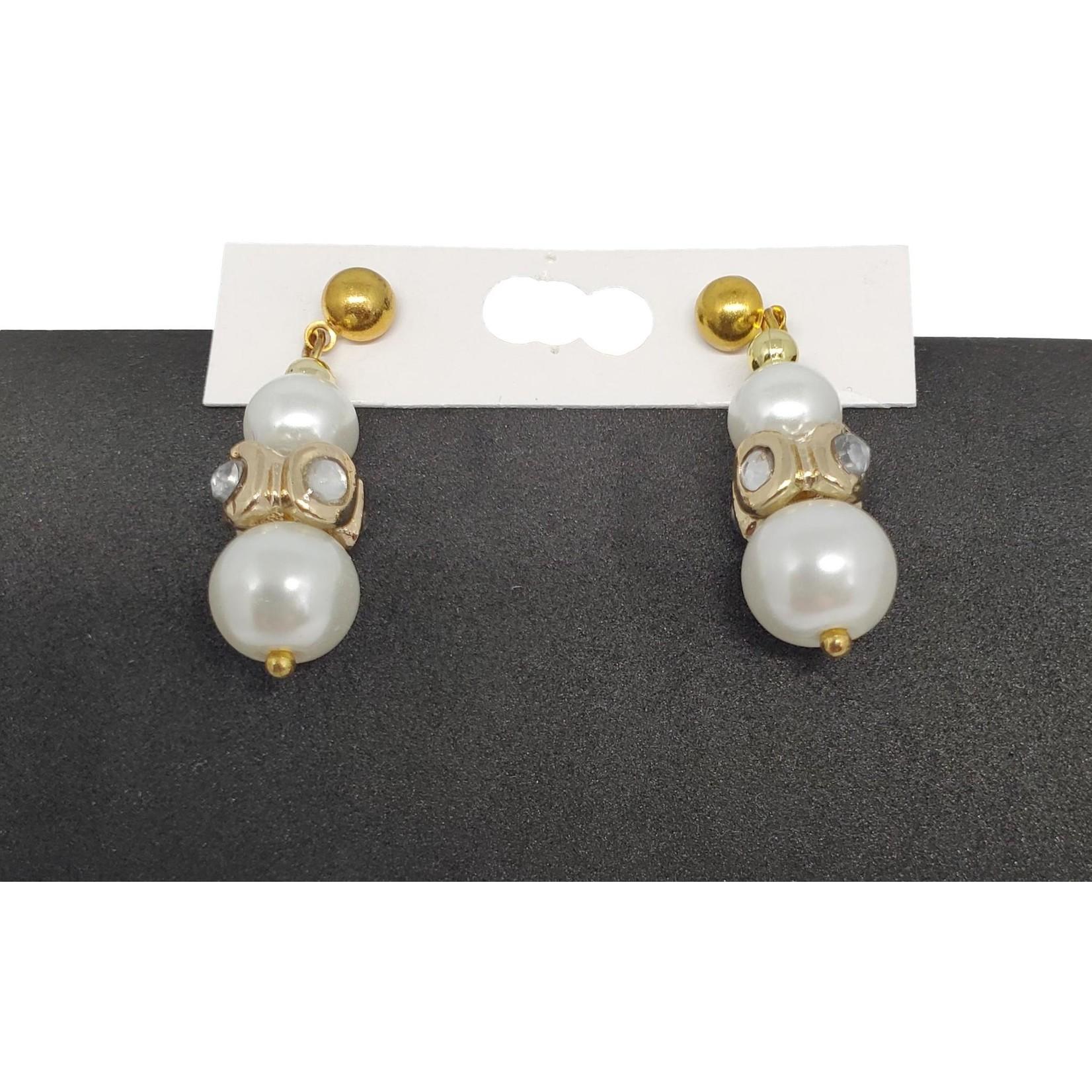 Jewellery by Deborah Young-Groves Double Pearl Drop Earrings