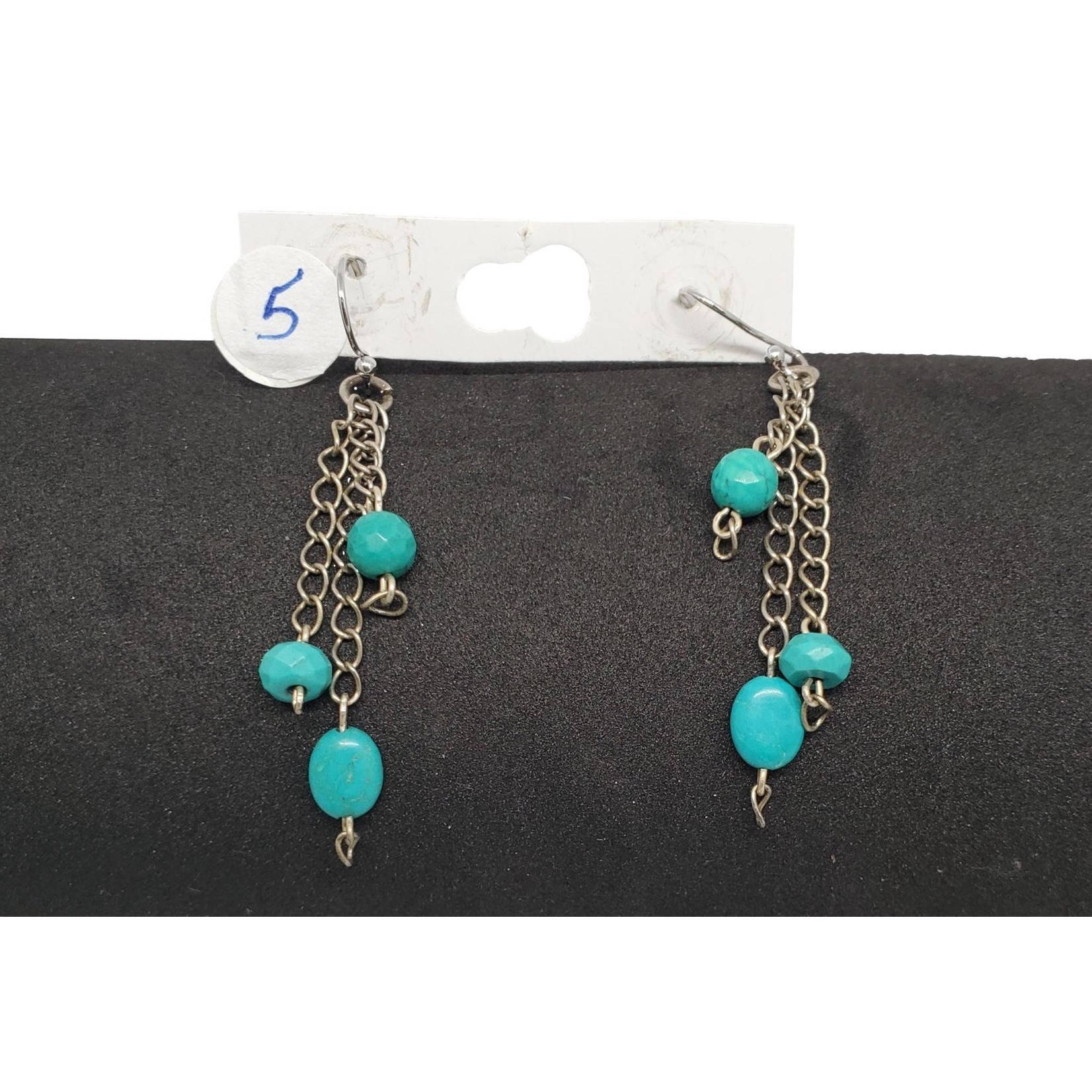 Jewellery by Deborah Young-Groves Turquoise on Chain Drop Earrings
