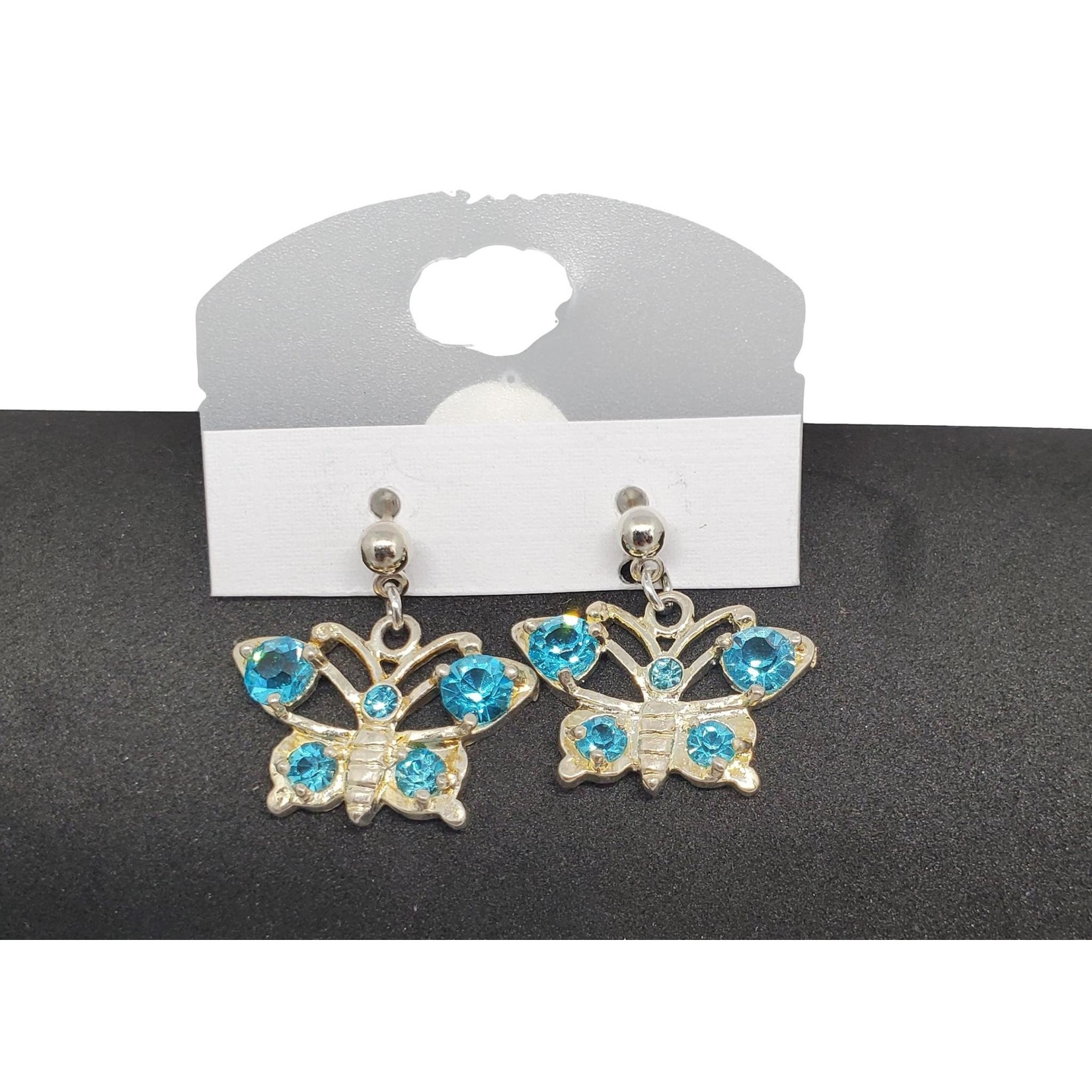 Jewellery by Deborah Young-Groves Silver Butterfly with Turquoise Stone Earrings