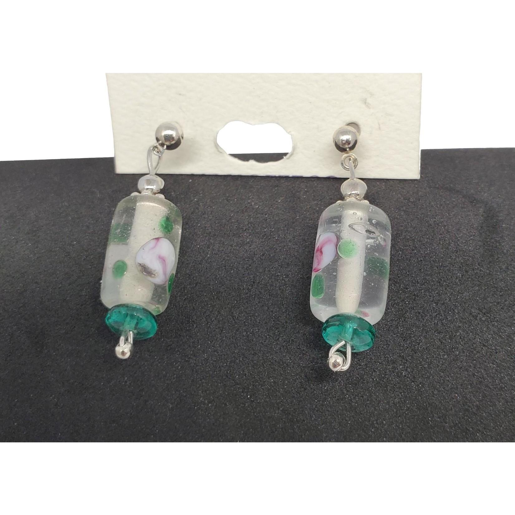 Jewellery by Deborah Young-Groves Painted Glass Drop Earrings