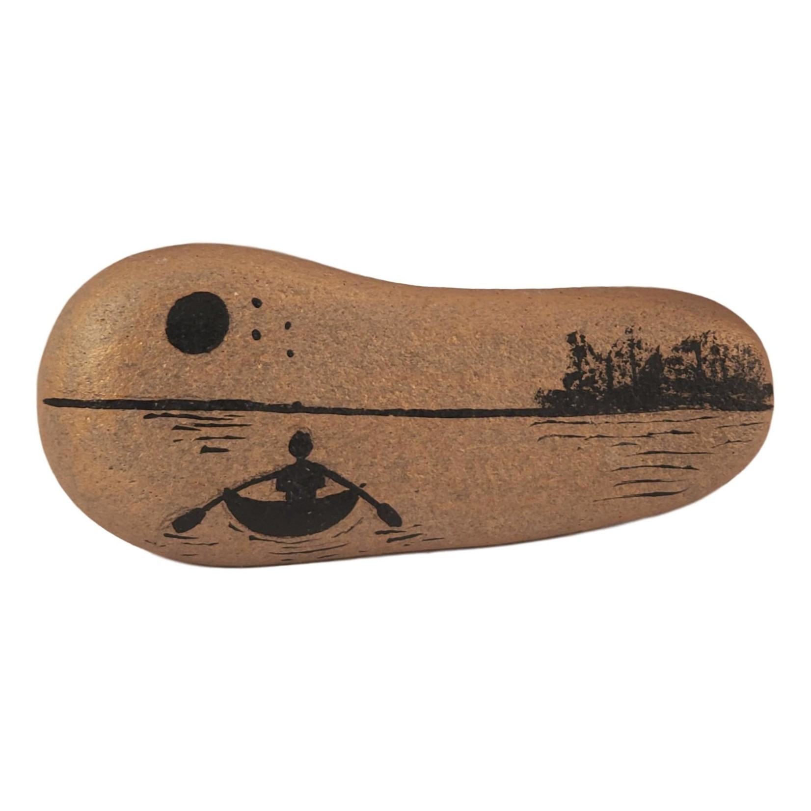 Off The Wall Gallery Gold Rock with Kayak Scenery Handpainted