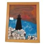 East Coast Sirens Lighthouse at Dusk Resin Painting