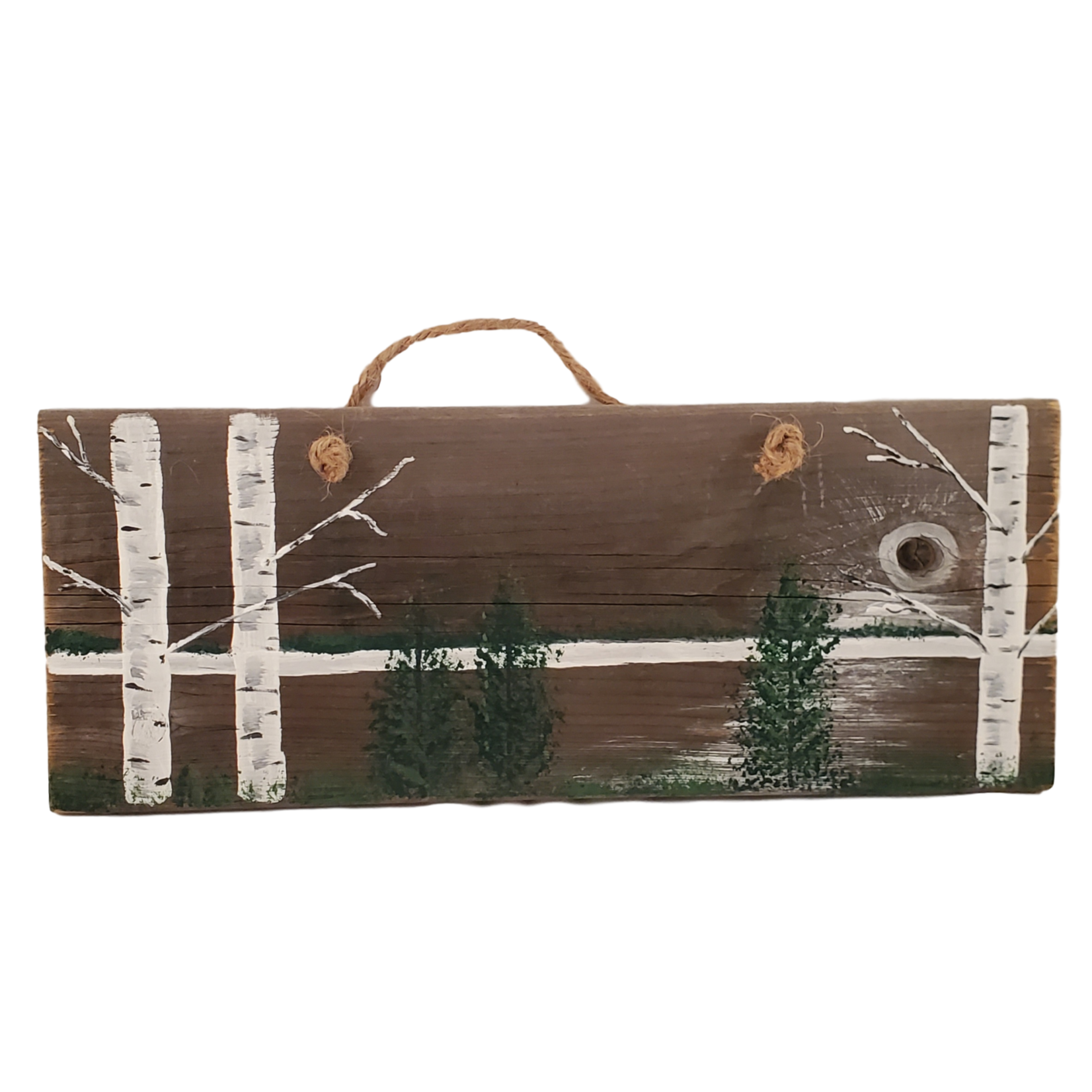 Off The Wall Gallery Hand-painted Birch Tree Sign