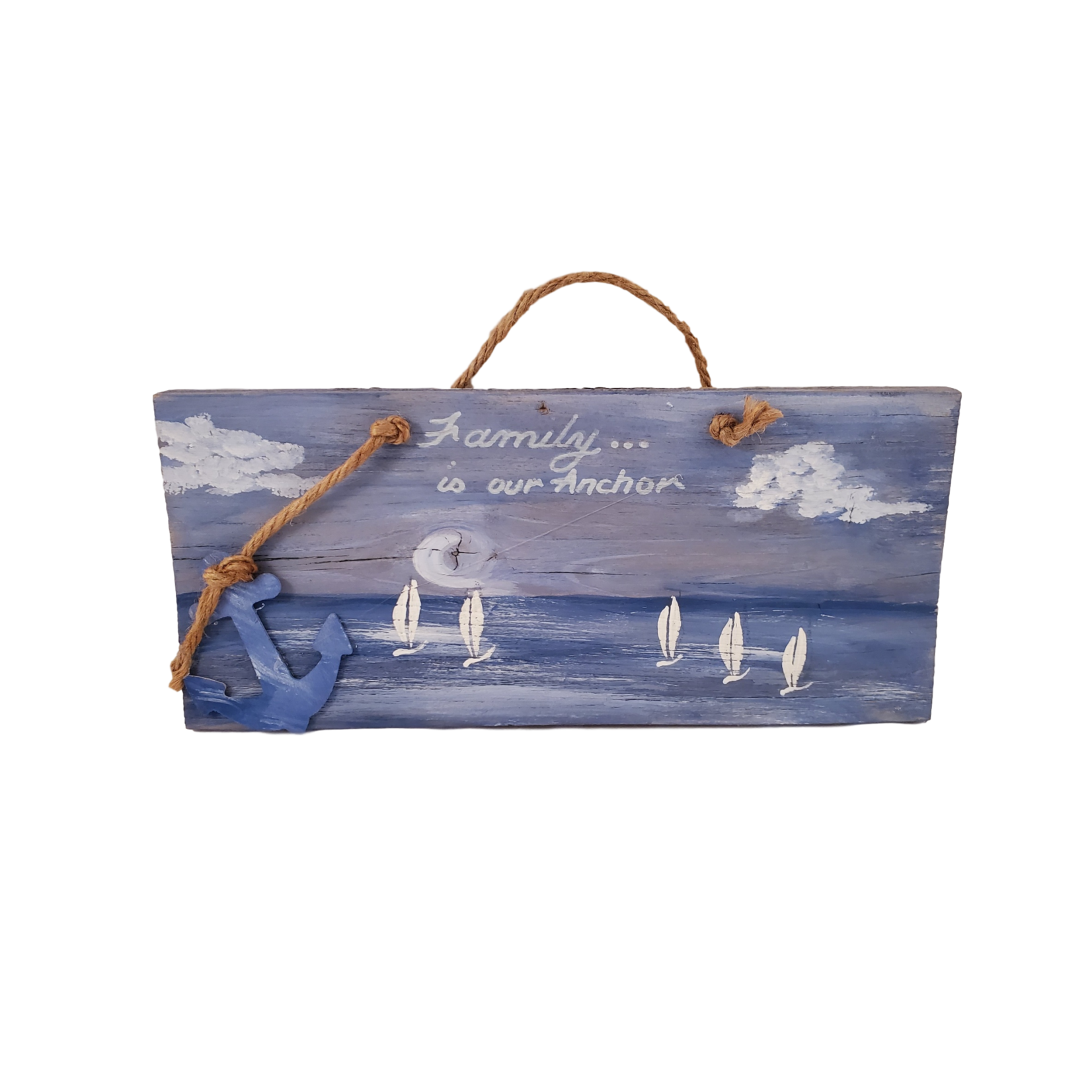 Off The Wall Gallery Hand-painted Sailboat Ocean Sign