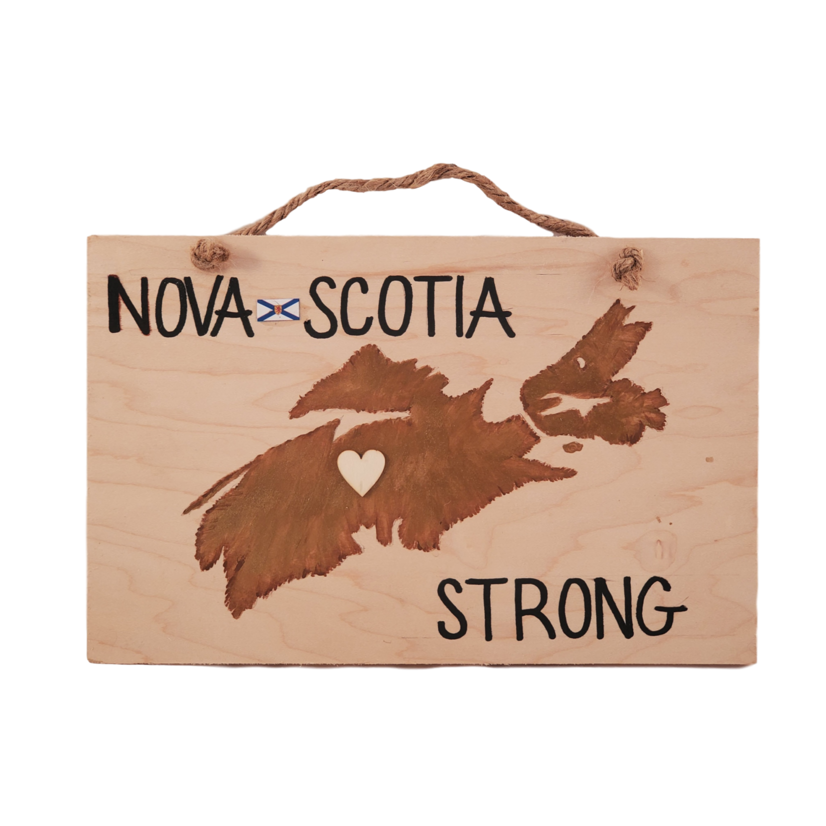 Off The Wall Gallery Hand-painted Nova Scotia Strong Sign