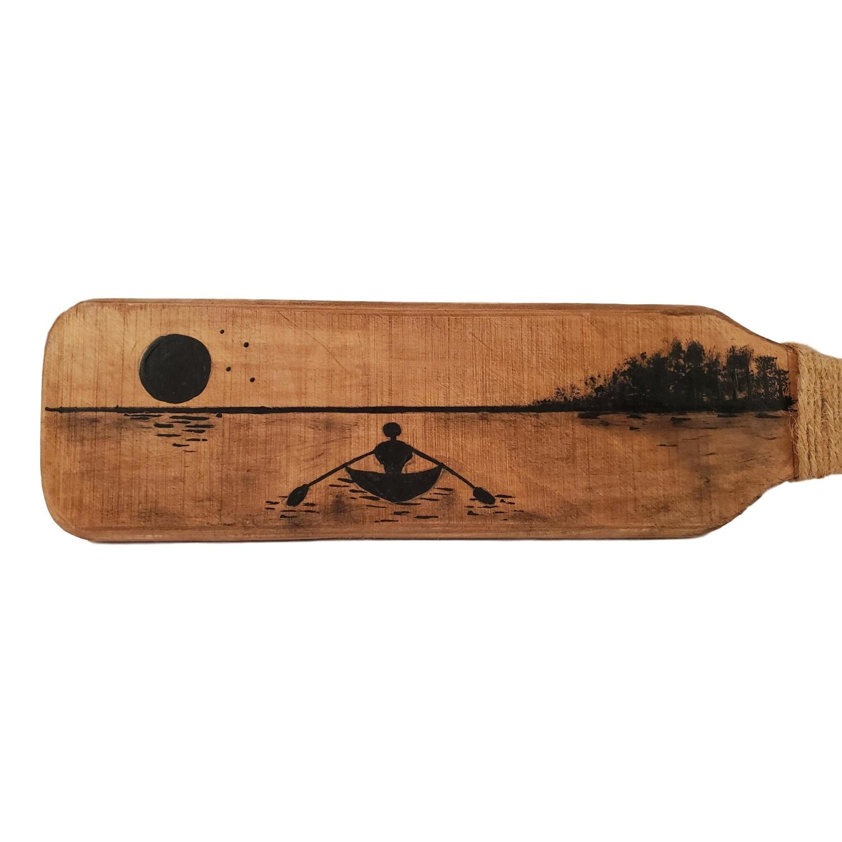 Off The Wall Gallery Handpainted Wall Hanging Paddle - Kayaker Silhouette