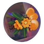 Off The Wall Gallery Hand-painted Orange Flower CD Suncatcher