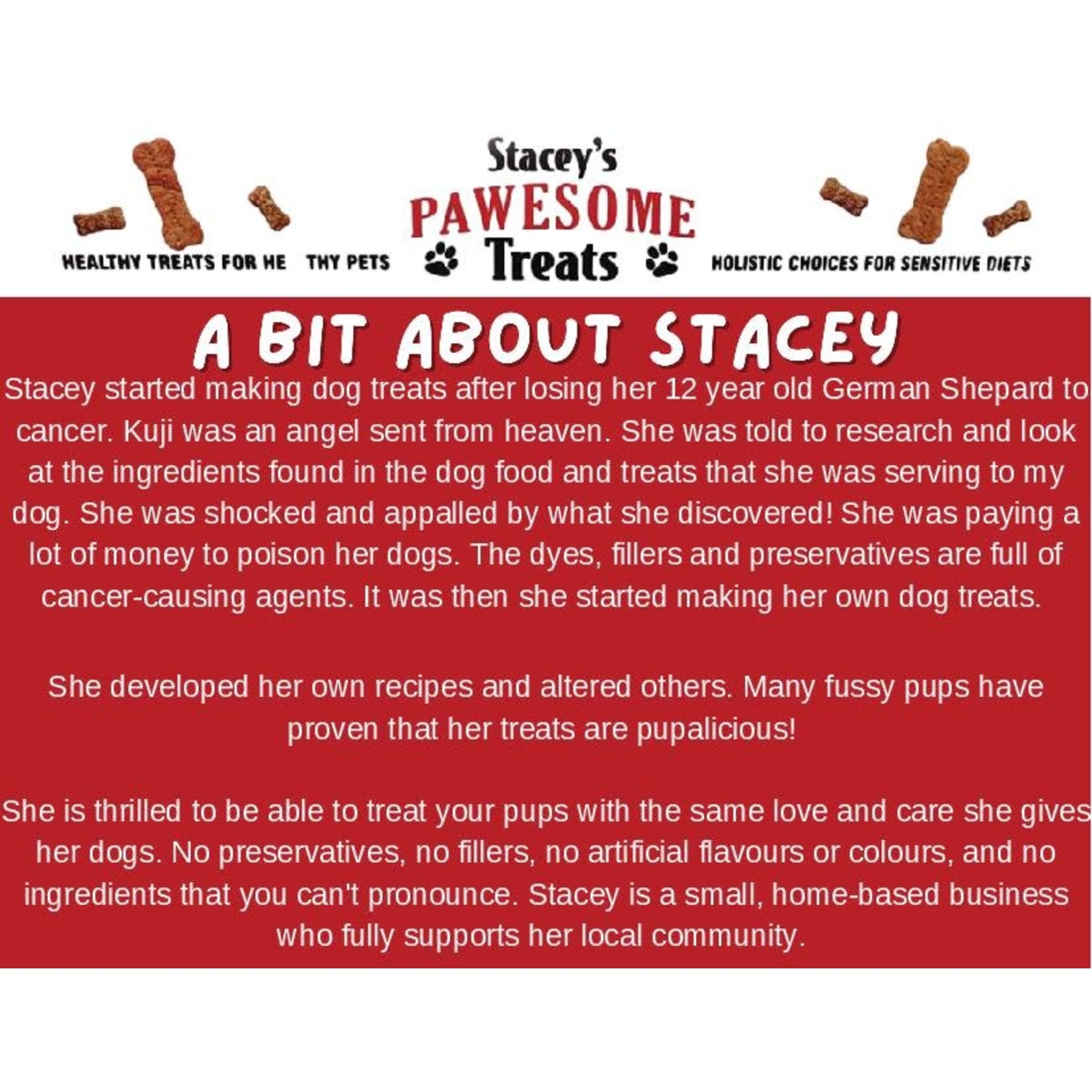 Stacey's Pawesome Treats Apple Peanut Butter Treats