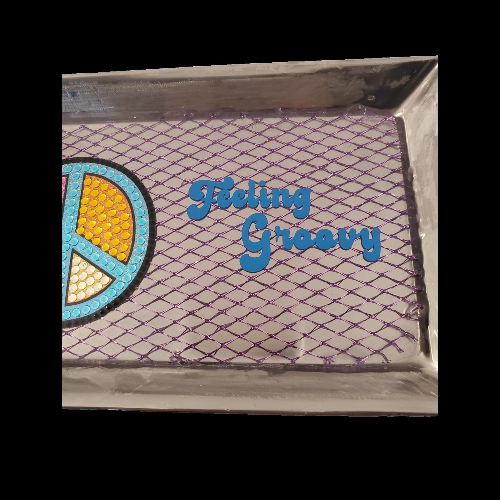 East Coast Sirens Groovy Stainless Steel Trinket / Rolling Tray