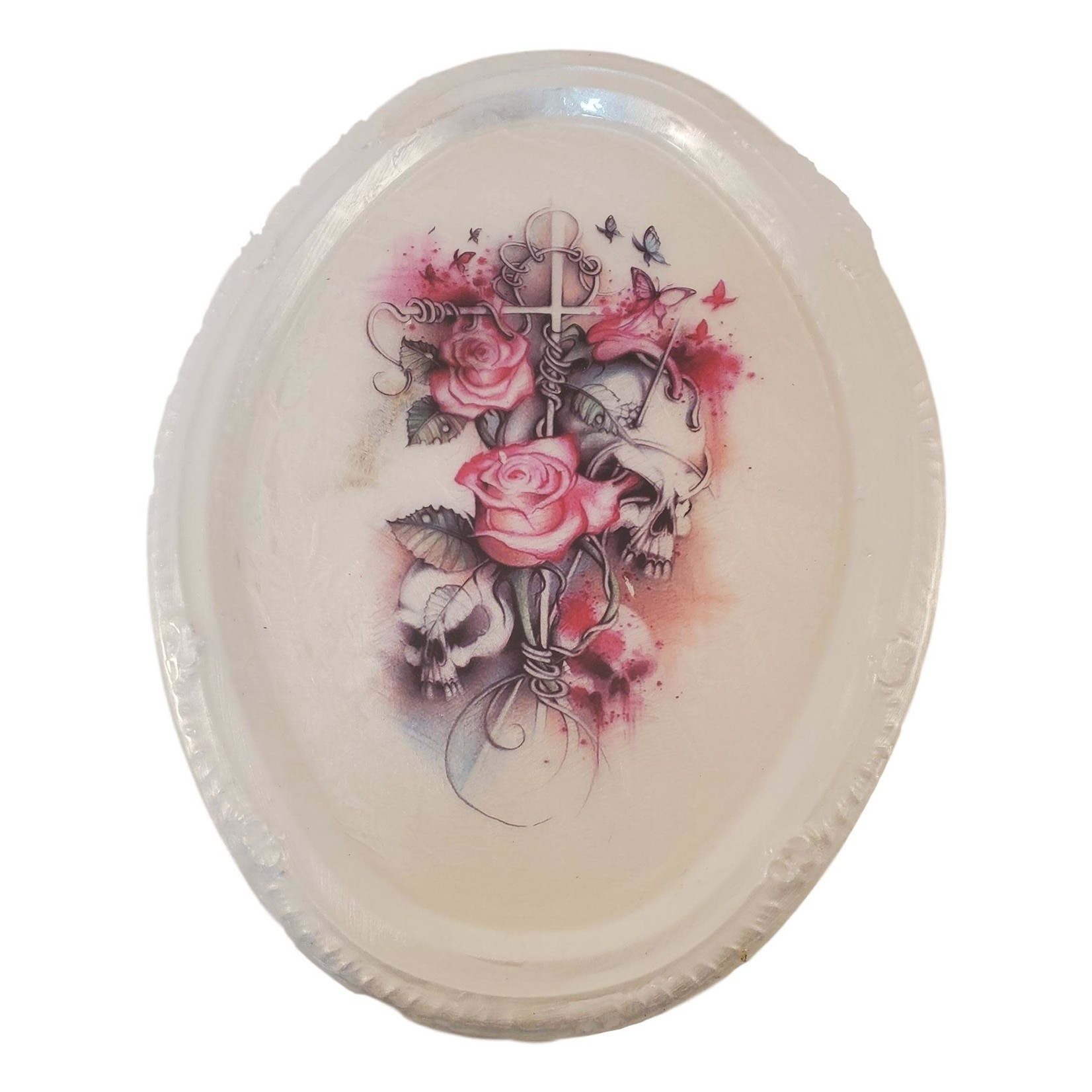 East Coast Sirens Rose and Skull Trinket / Rolling Tray