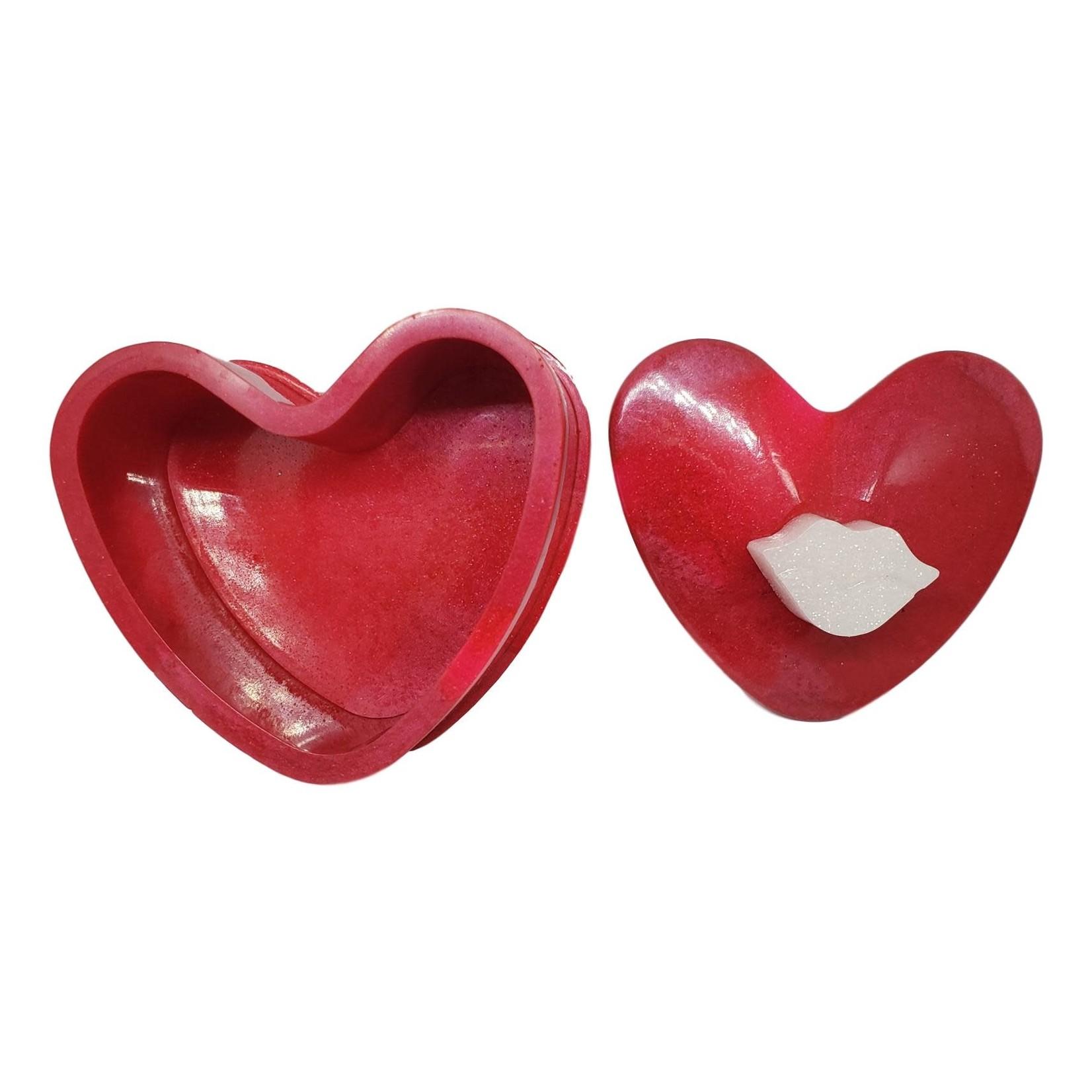 East Coast Sirens Deep Red Heart Trinket Box
