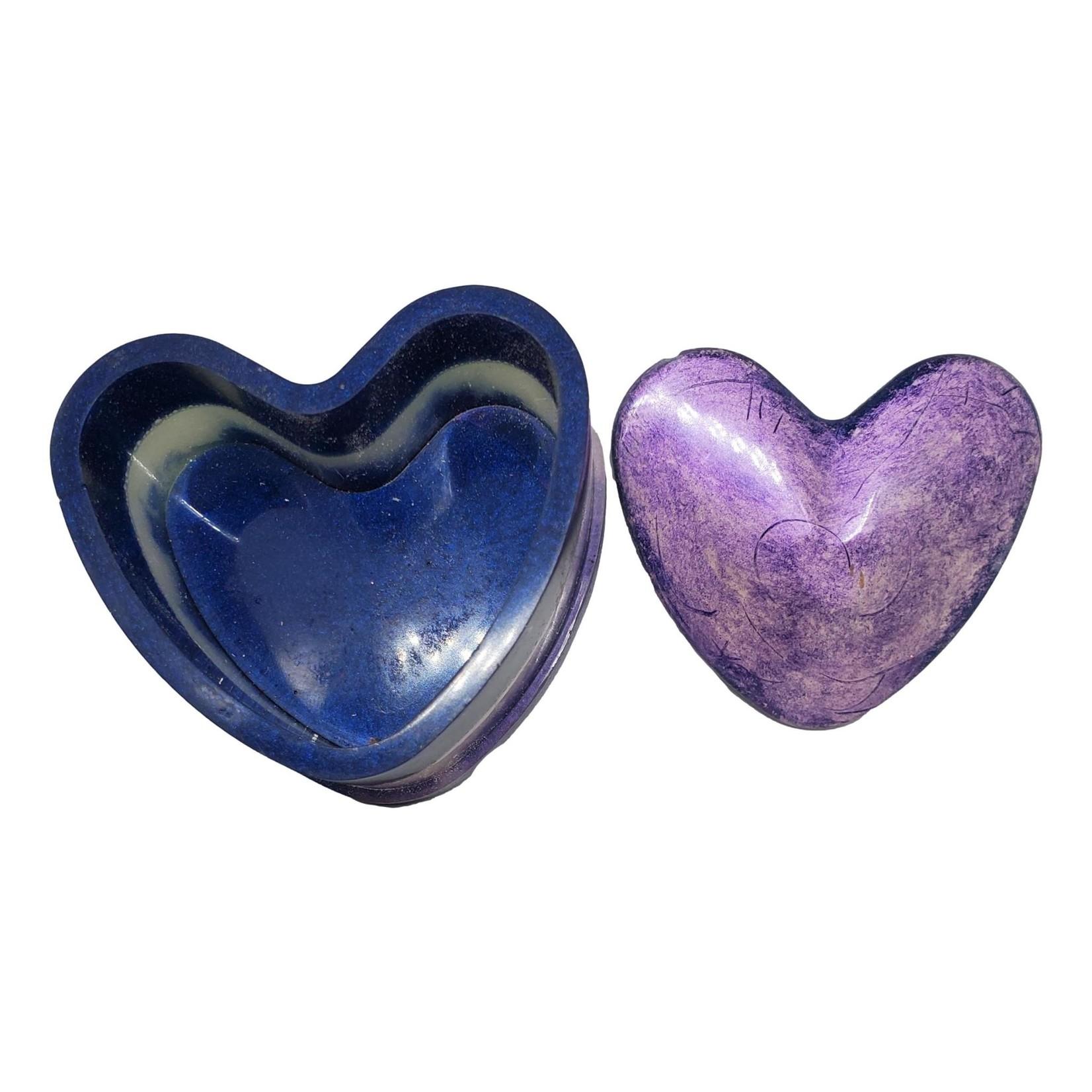 East Coast Sirens Purple & Lavender Heart Trinket Box