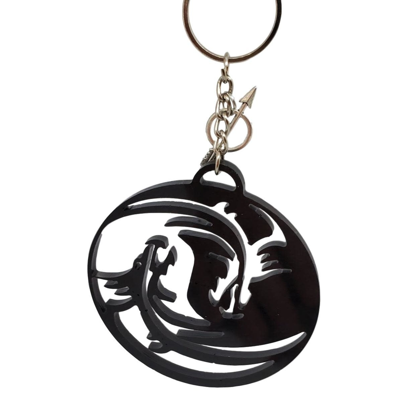 East Coast Sirens Dragon Art Key Chain in Black