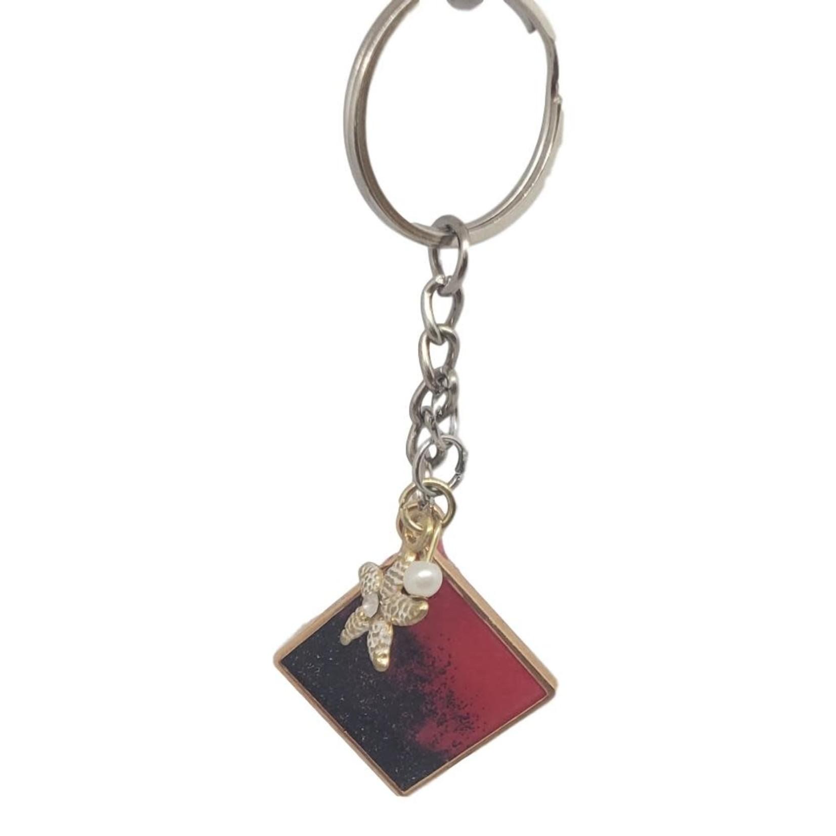 East Coast Sirens Red & Black Pendant Key Chain