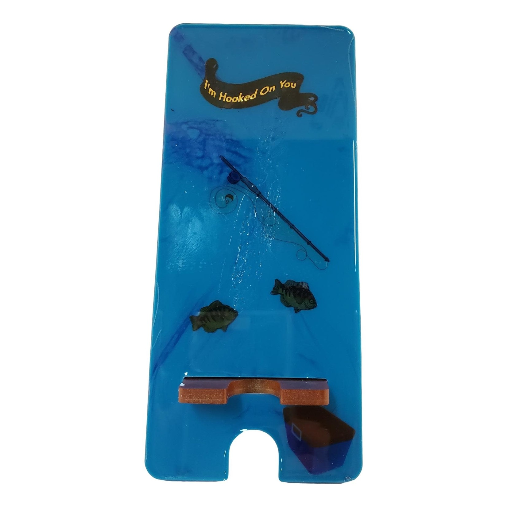 East Coast Sirens Fishing Theme Cell Phone Stand