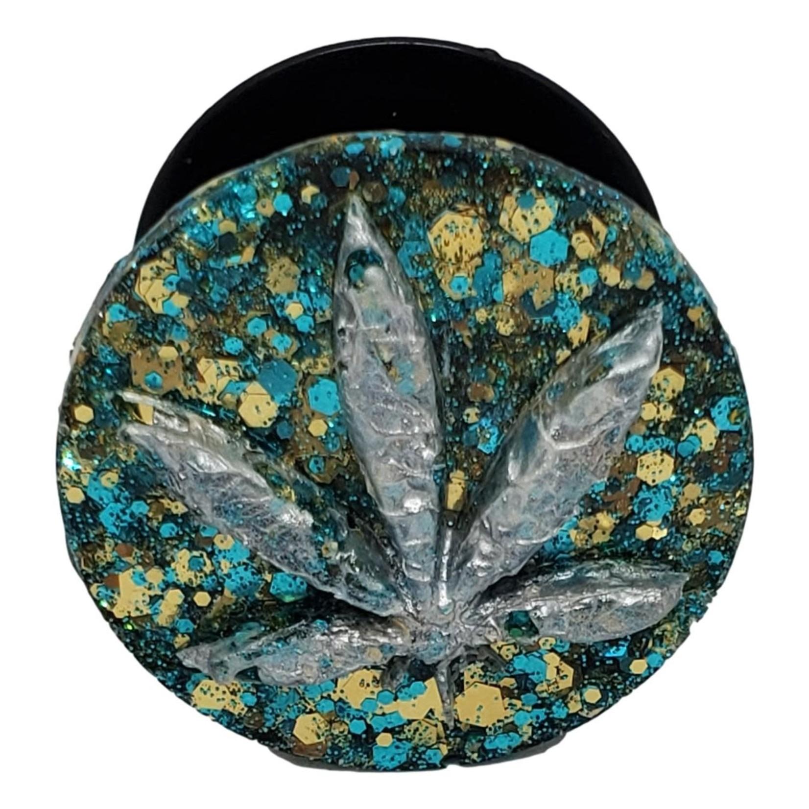 East Coast Sirens Silver Pot Leaf Phone Pop-Up