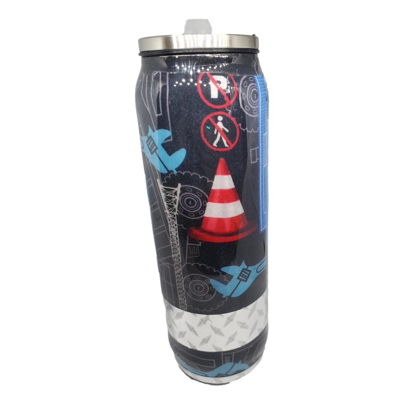 East Coast Sirens Construction Tumbler - 500ml Tall Coke Can