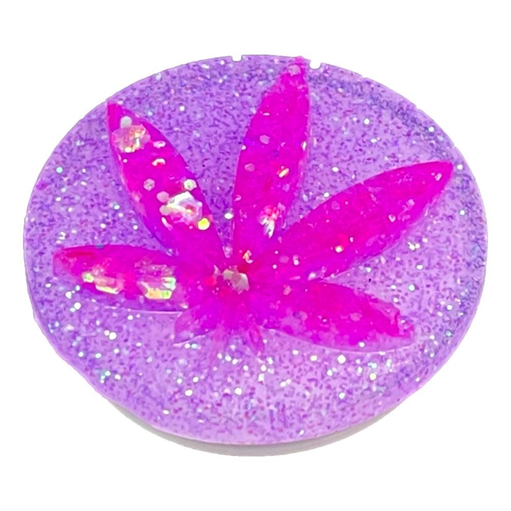 East Coast Sirens Pink on Purple Weed Leaf Phone Grip