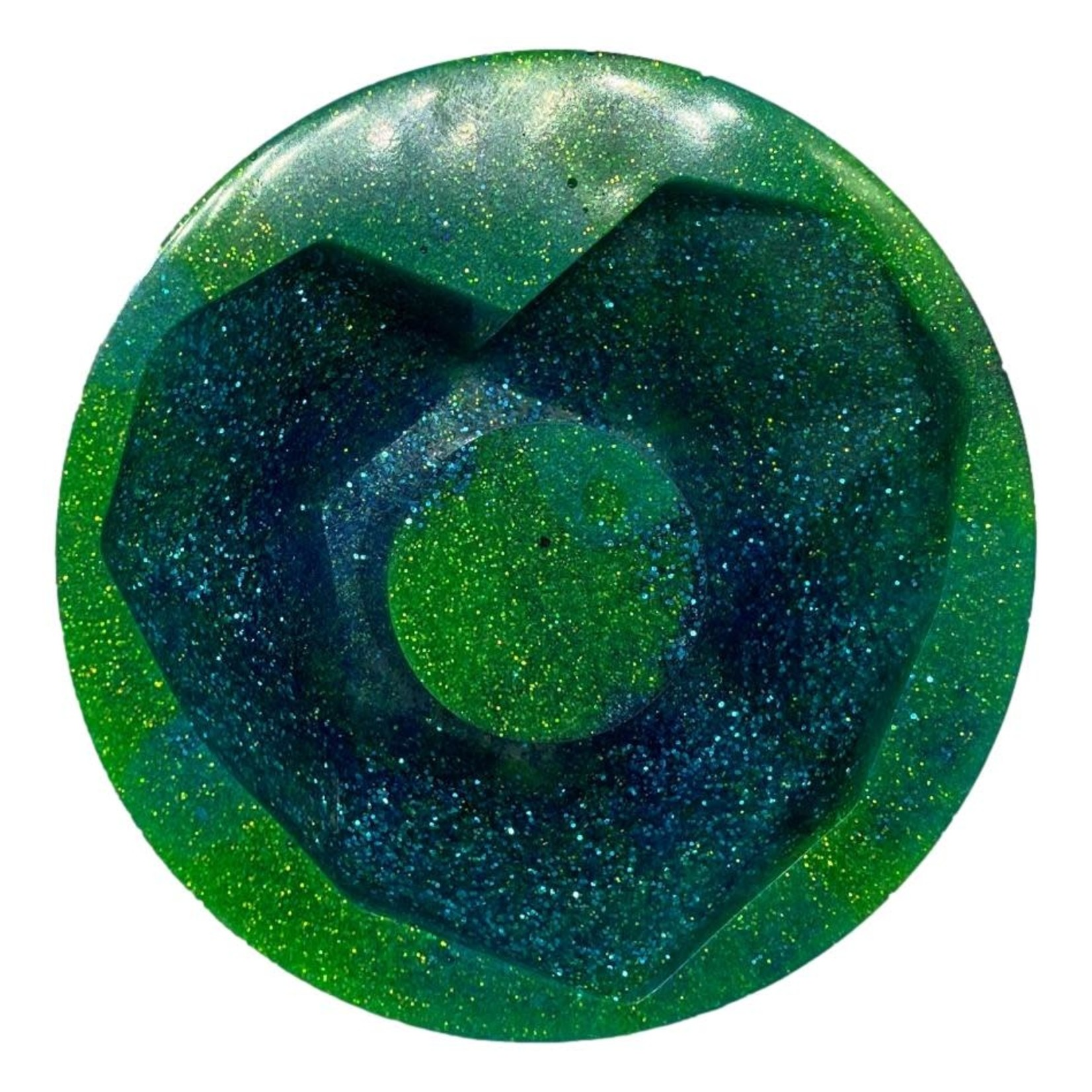 East Coast Sirens Blue & Green Geometric Heart Planter