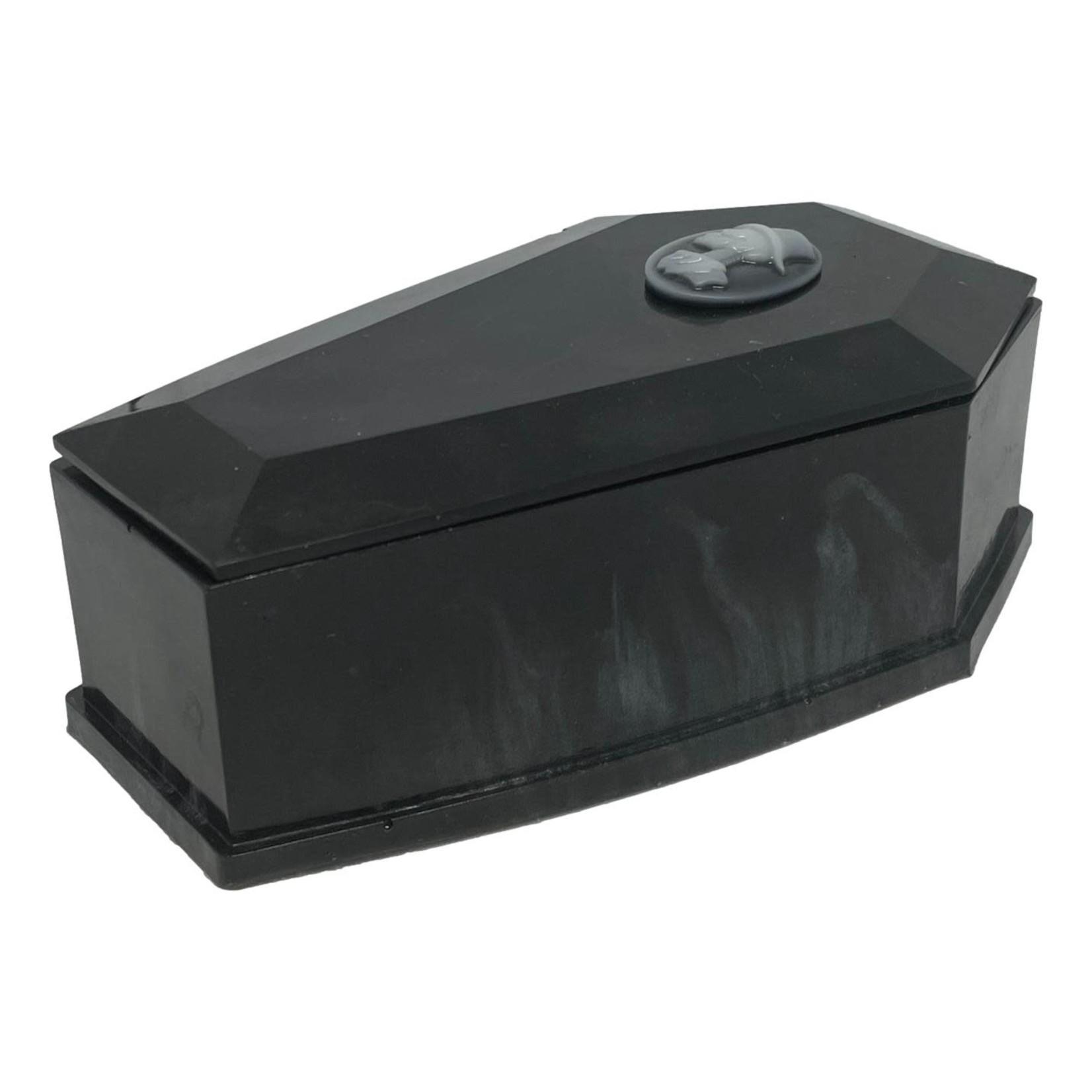 East Coast Sirens Black & Wispy Grey Coffin Trinket Box