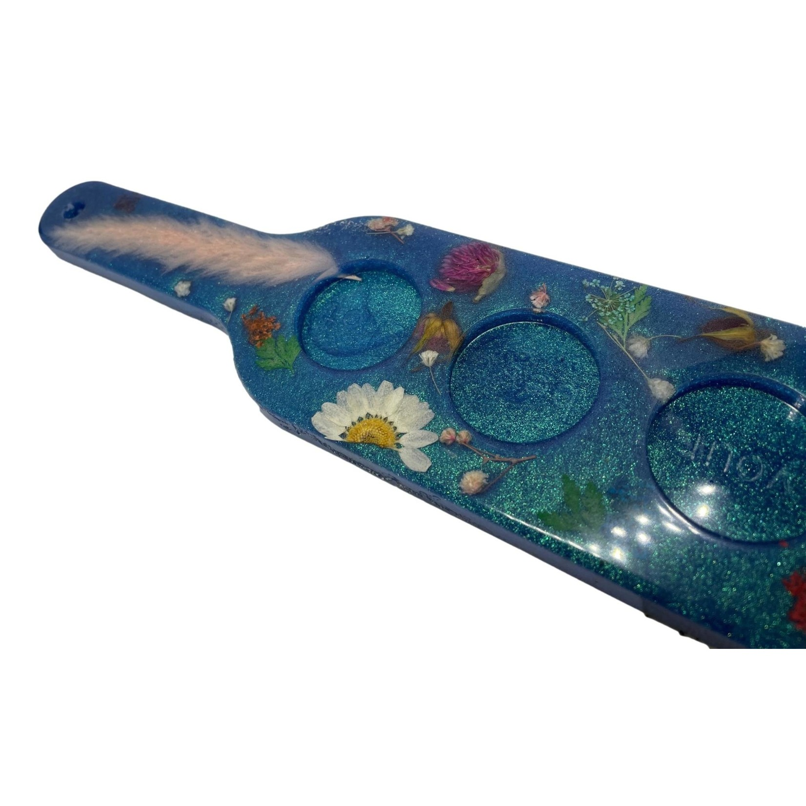 East Coast Sirens Blue Floral Flite Tray with Glasses