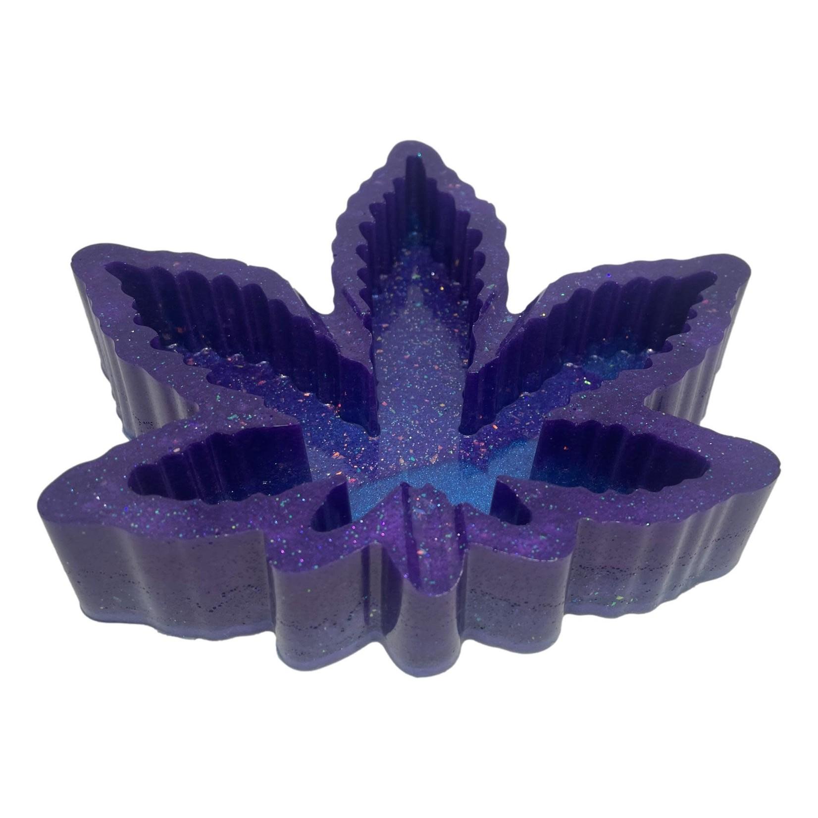 East Coast Sirens Purple Pot Leaf Resin Ashtray