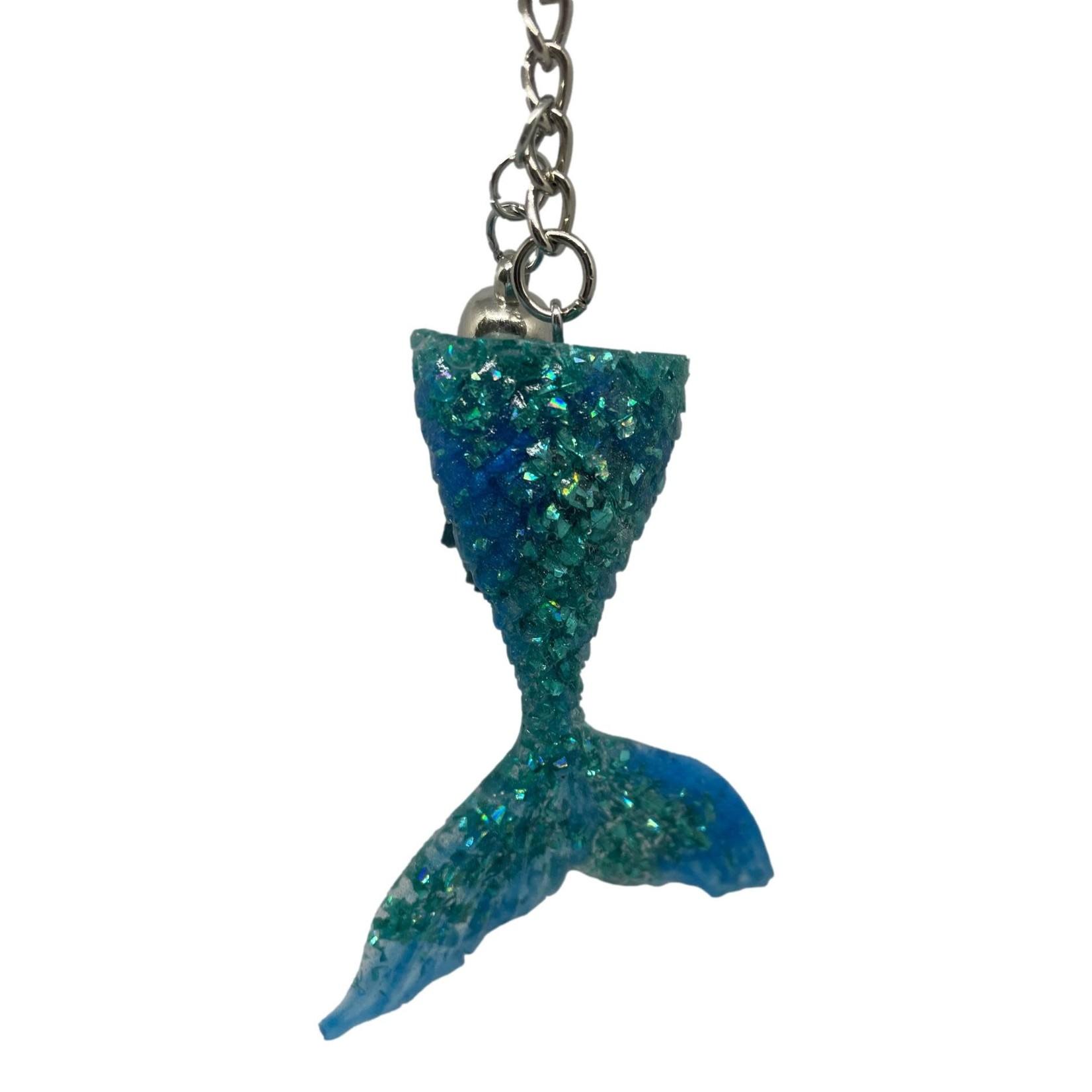 East Coast Sirens Mermaid Glitter Mermaid Tail Key Chain