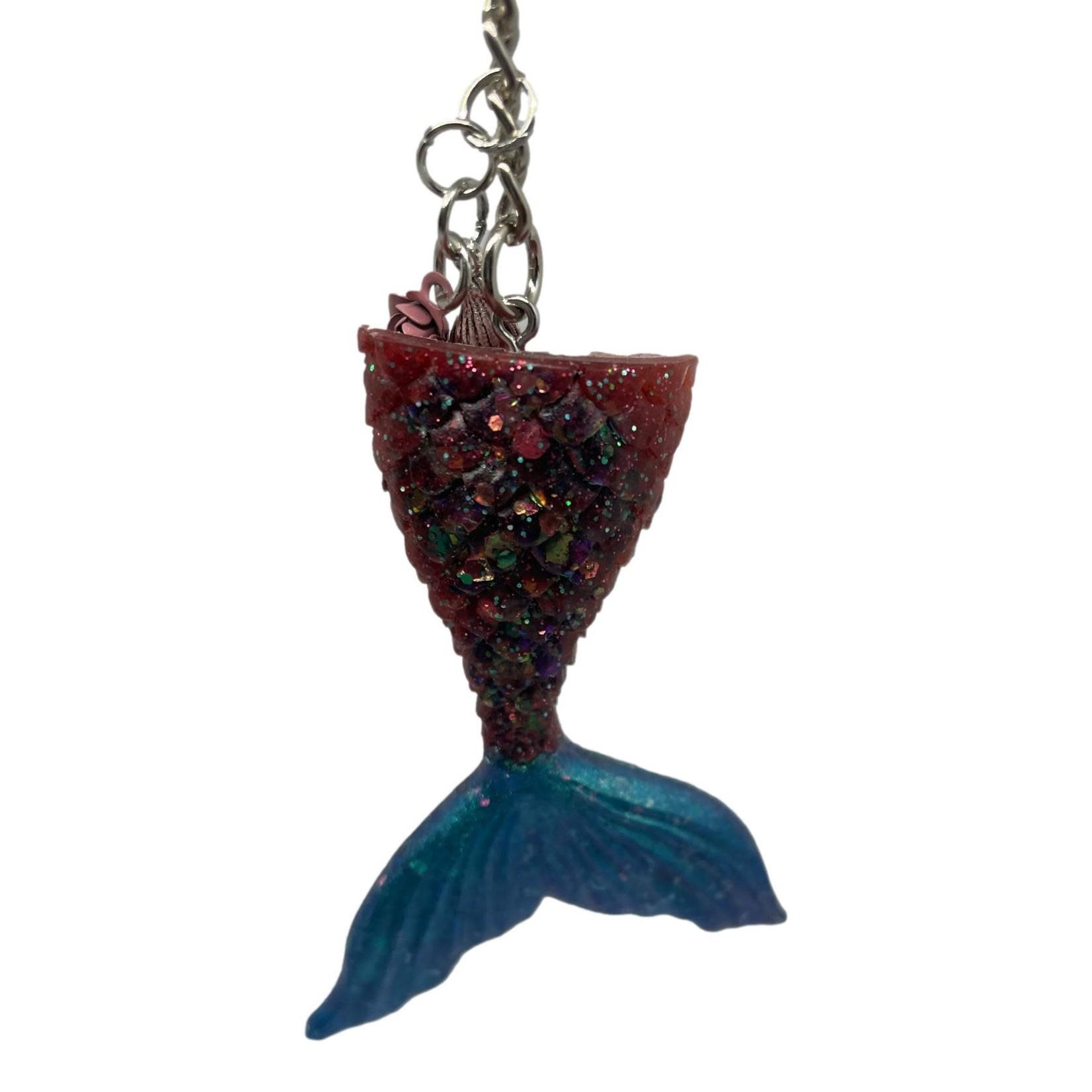 East Coast Sirens Two-tone Mermaid Tail Key Chain