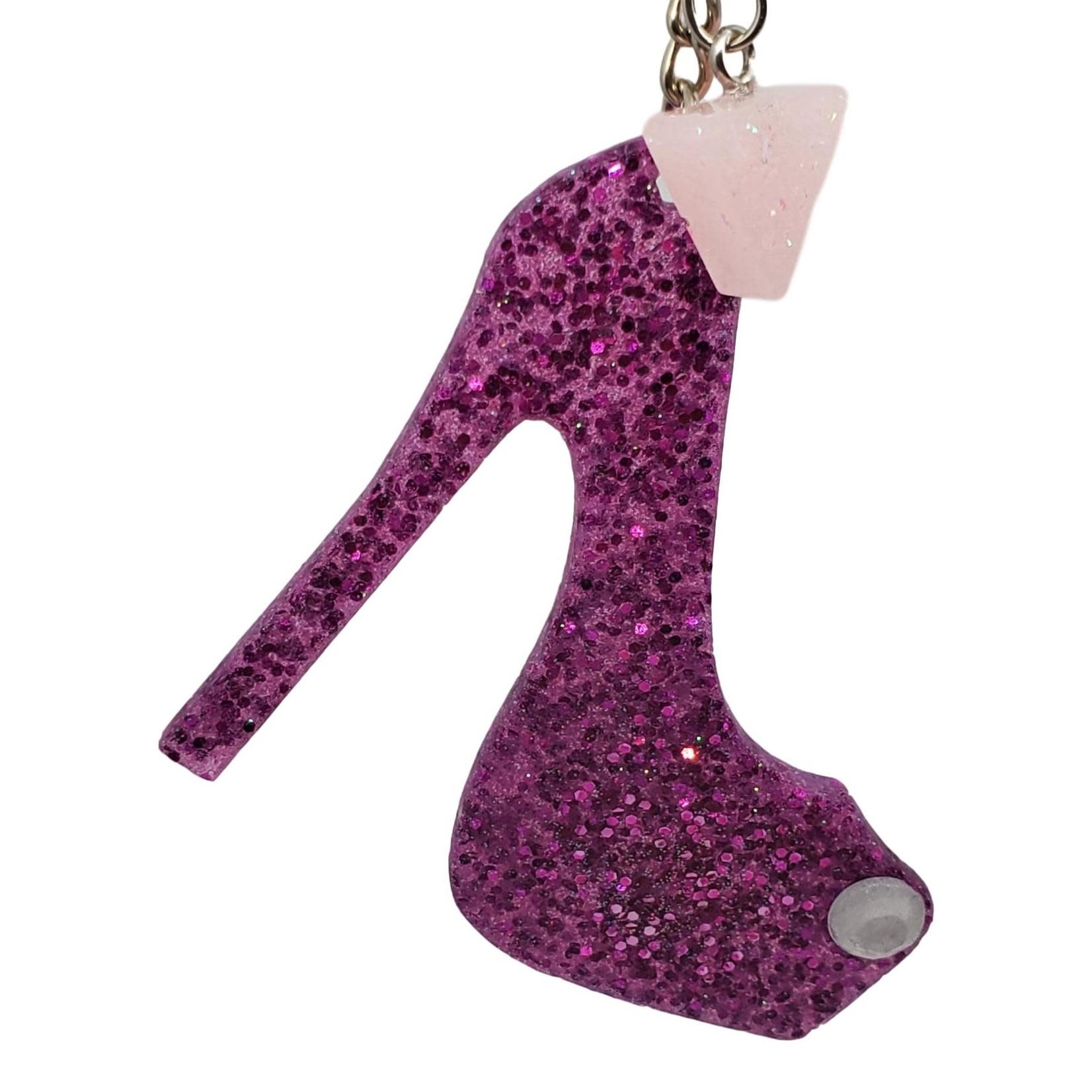 East Coast Sirens Pink Glitter High-heel Pump Key Chain