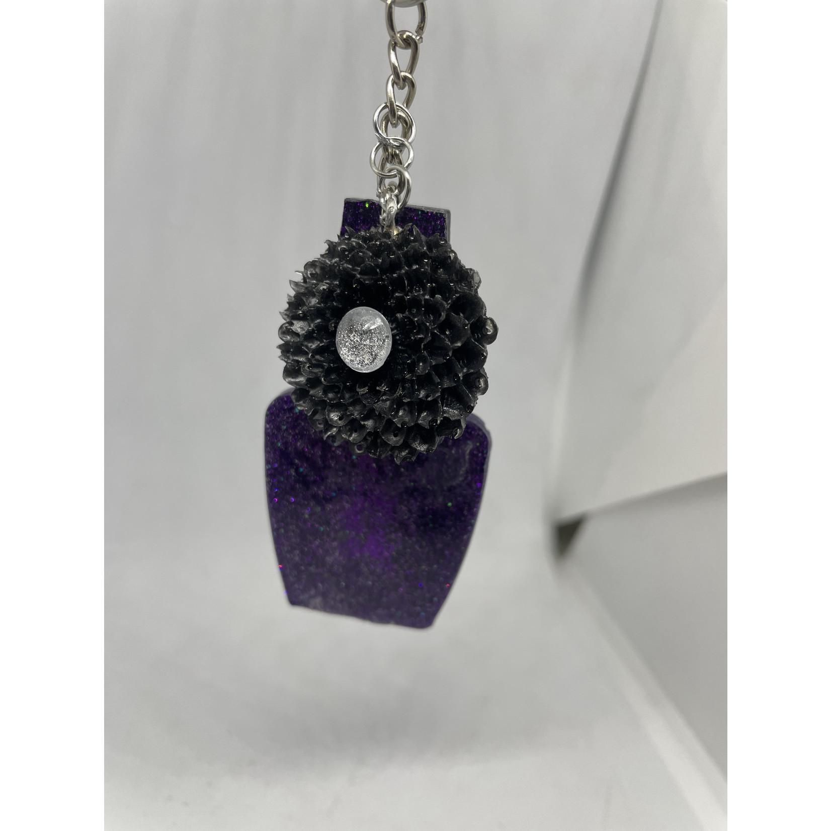 East Coast Sirens Sassy Purple Glitter Nail Polish Key Chain
